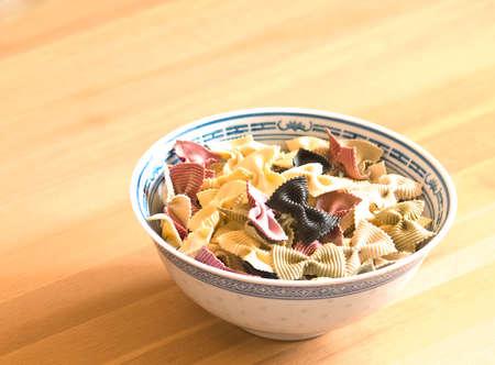 plateful: plateful of the fancy pasta Stock Photo