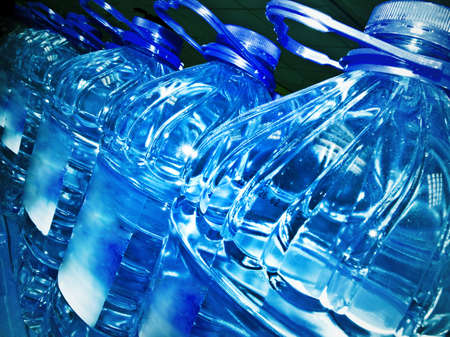 Row of bottled water photo