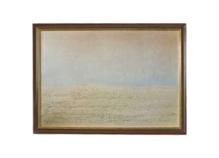 Unrecognizable simple abstract oil picture  photo