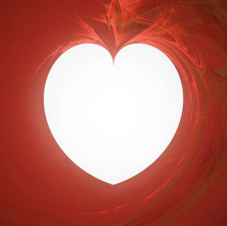 Abstract background, white heart photo