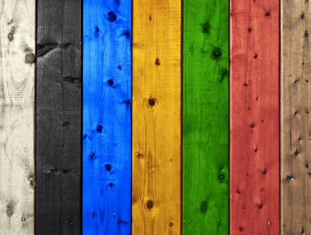 Colorful painted boarded background  photo