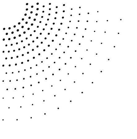 blotchy: black dotted net on white Illustration