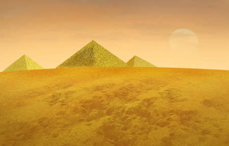 the Egyptian pyramids in haze Stock Photo - 6028828