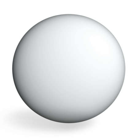 matted: White sphere on white Stock Photo