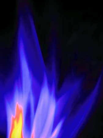 blue flame: burning gas, close-up Stock Photo