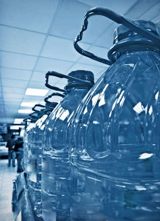 bottled water row Stock Photo - 6150072