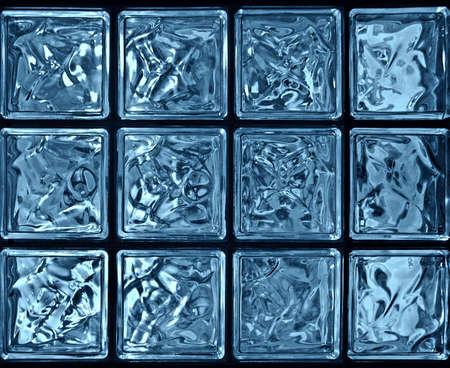 glassy blocks, closeup