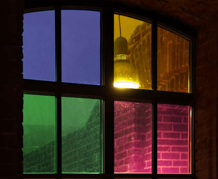 stylish window with stained-glass Stock Photo - 6502377