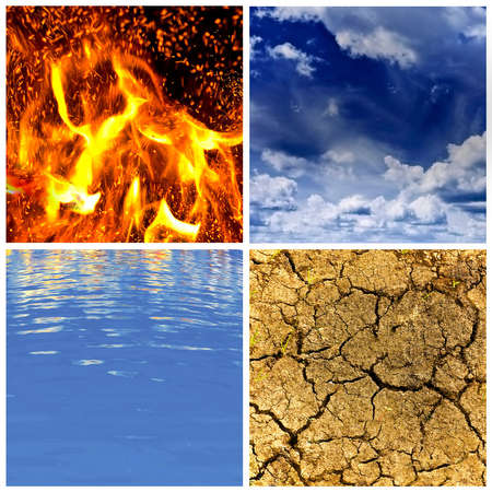 four symbols of nature, close-ups photo