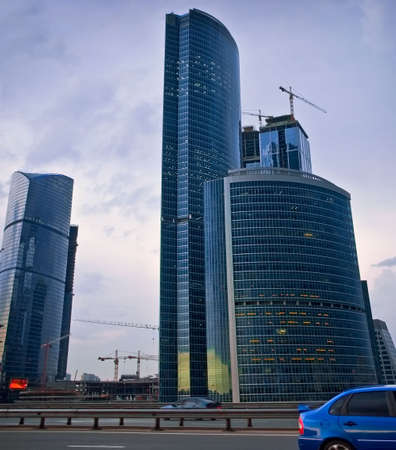 Evening under-construction Moscow-city Stock Photo - 6585718