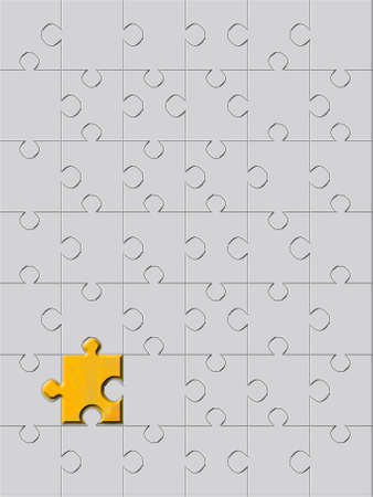 background with metal puzzles