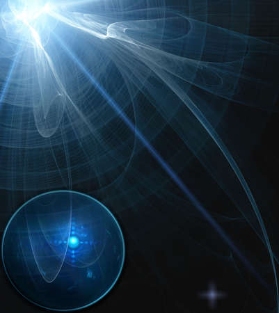 Abstract science process in dark Stock Photo - 6670672