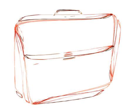 keyline: leather briefcase, sketch