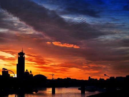 Cityscape at sunset Stock Photo - 6763559