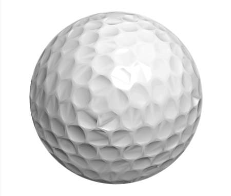 the golf ball, isolated photo