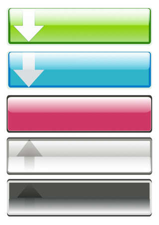 horizontal colorful buttons set Stock Photo - 6892770