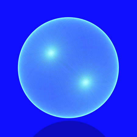 netlike: Meshy sphere in blue  Stock Photo