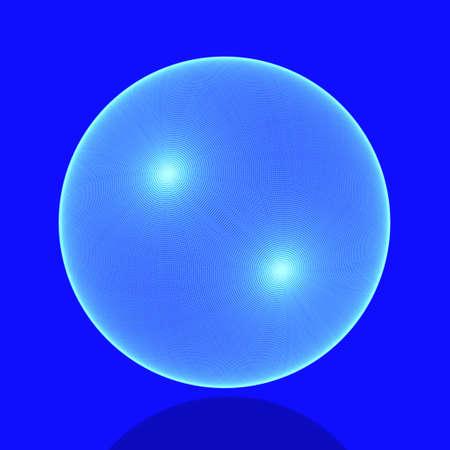 meshy: Meshy sphere in blue  Stock Photo