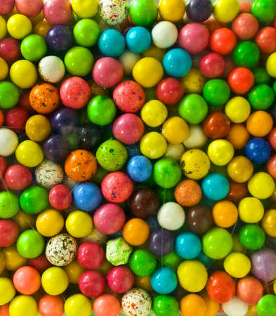 multicolored gumballs: gumballs, closeup Stock Photo