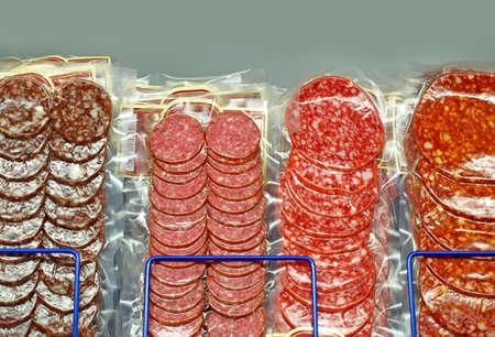 fatty: Salami sausages