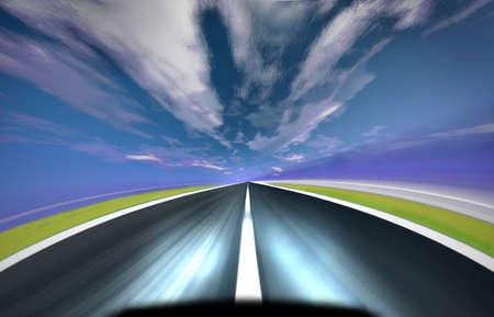 carretera en movimiento borroso