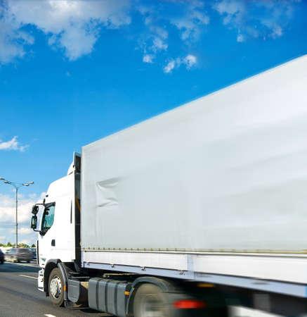 motion truck Stock Photo