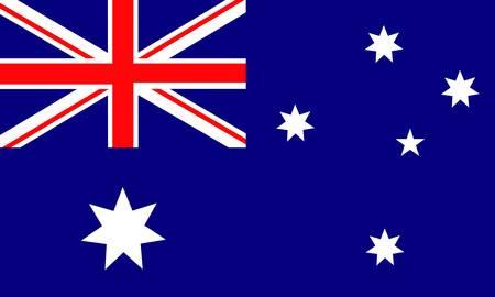 union flag: australian flag