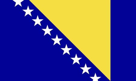 Bosnia-and-Herzegovina flag Stock Vector - 7829490