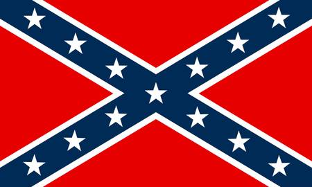 flag of Confederate Ilustração