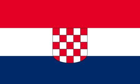 bandiera croazia: Bandiera Croazia  Vettoriali