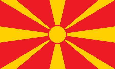 Macedonia flag Stock Vector - 7829485