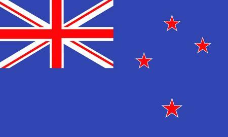 new zealand flag: Bandiera della nuova Zelanda Vettoriali