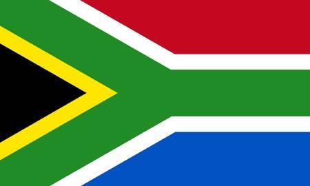 Bandiera della Repubblica sudafricana  Archivio Fotografico - 7825692