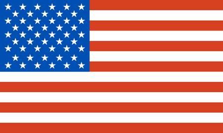 Vereinigte Staaten von Amerika, Flagge  Illustration