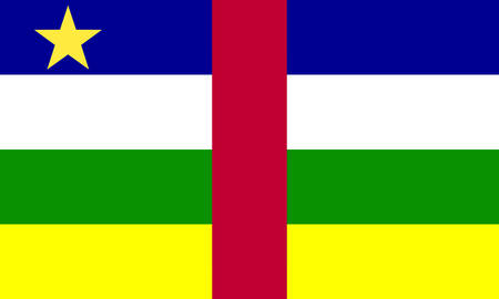 central african republic: the Central African Republic flag