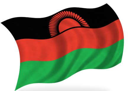malawi flag: Malawi flag, isolated