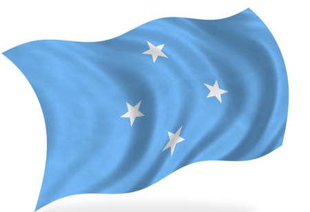 micronesia: Micronesia  flag, isolated