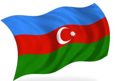 azerbaijan: Azerbaijan  flag, isolated