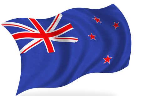 bandera de nueva zelanda: Bandera de Nueva Zelanda, aislado  Foto de archivo