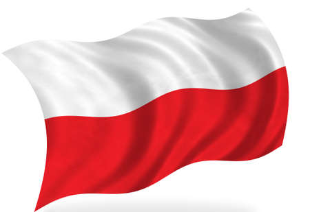 poland flag: Poland flag, isolated