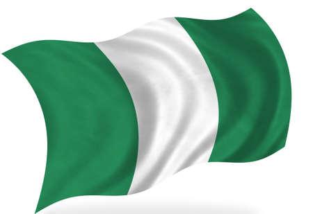 Nigeria  flag, isolated Stock Photo - 7928304