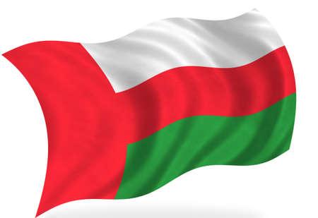 Oman  flag, isolated Stock Photo - 7928305