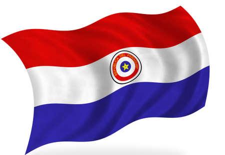Paraguay flag: Bandera de Paraguay, aislado