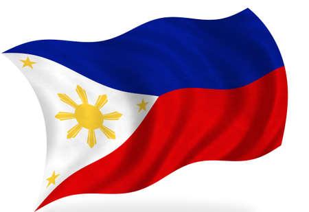 Bandiera Filippine, isolato Archivio Fotografico - 7928381