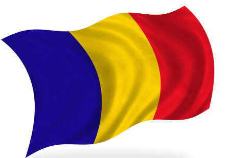 romania: Romania  flag, isolated