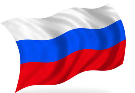federation: Russian federation flag, isolated Stock Photo