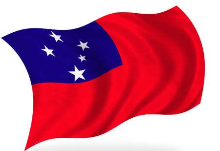 samoa: Samoa  flag, isolated