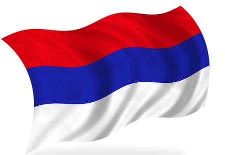 serbia: Serbia flag, isolated