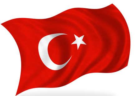 Türkischer Flagge, isoliert