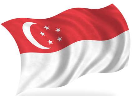 Singapore  flag, isolated